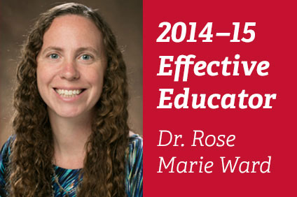 Rose Marie Ward Named 2015 Miami University Effective Educator