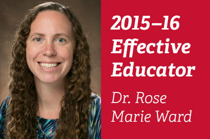 Rose Marie Ward Named 2015 Effective Educator