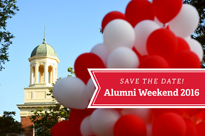 Save the date for Alumni Weekend 2016