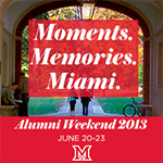 Alumni Weekend 2013 Registration is now available
