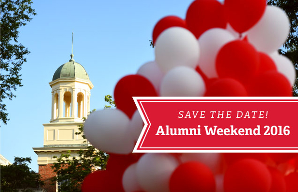 Save the date!  Alumni Weekend 2016