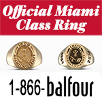 Official Miami Class Ring - 1-866-balfour