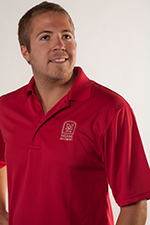 Men's Red Port Authority Polo
