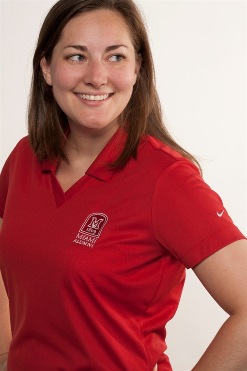 Women's Red Nike Polo