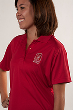 Women's Red Port Authority Polo