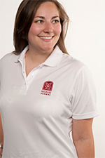 Women's White Port Authority Polo