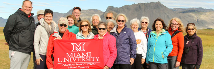 Group of alumni on a Miami Explorers trip