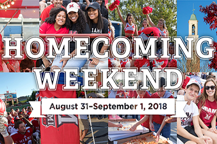 Homecoming 2018 collage - Homecoming Weekend August 31-September 1, 2018